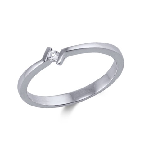 Anillo oro blanco y diamante 0.04cts 3026bb