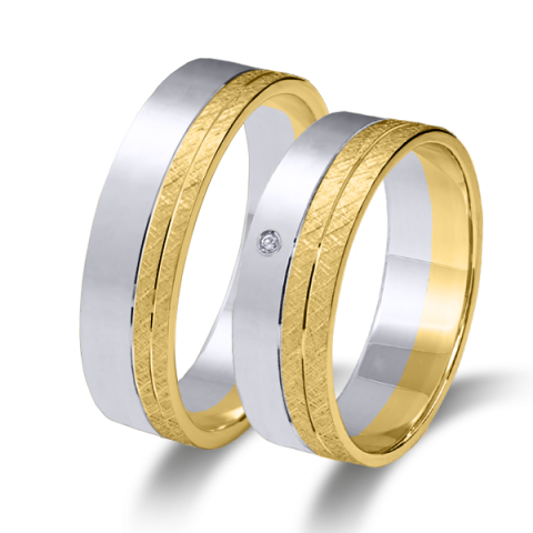 Alianzas matrimonio oro amarillo y blanco 6632ba