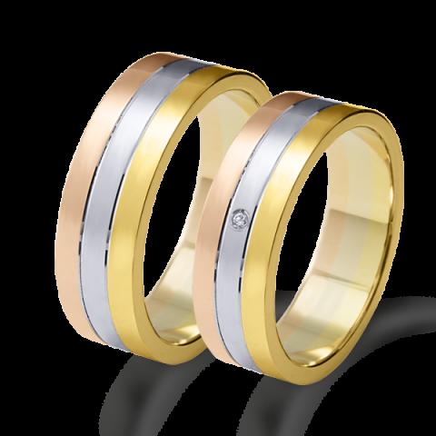 Alianza matrimonio tricolor oro 6634tr