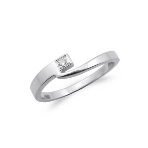 Anillo oro blanco y diamante 0.02 cts 3023bb