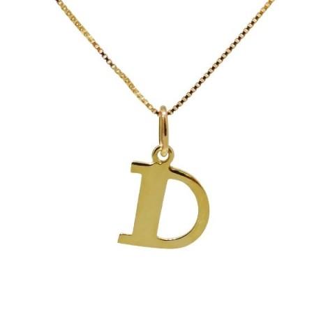 Colgante letra D en oro 18kts 4155-d