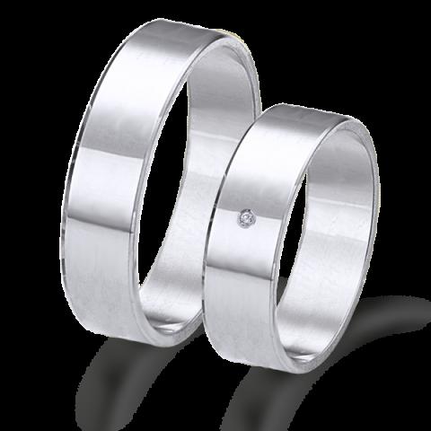 Alianzas de matrimonio en oro blanco lisas 6315ob