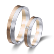 Alianzas  de boda bicolor oro blanco y rosa 6376rb