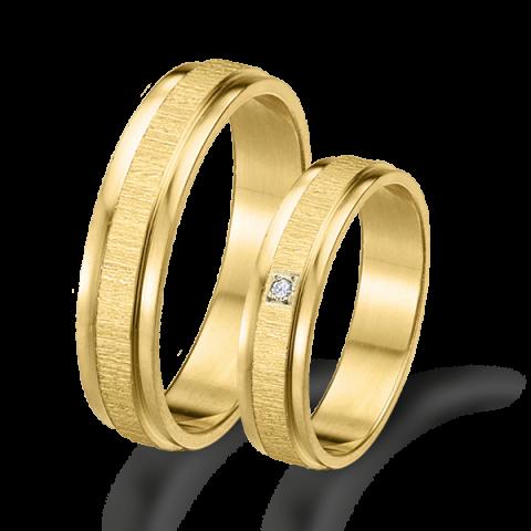 Alianzas de matrimonio en oro amarillo 18 kts 6405am