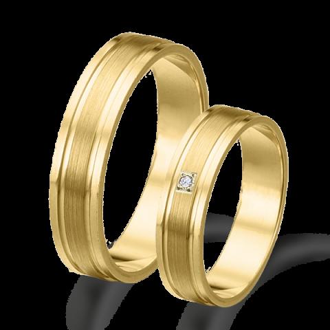 Alianzas de matrimonio oro amarillo plana brillo mate 6424am
