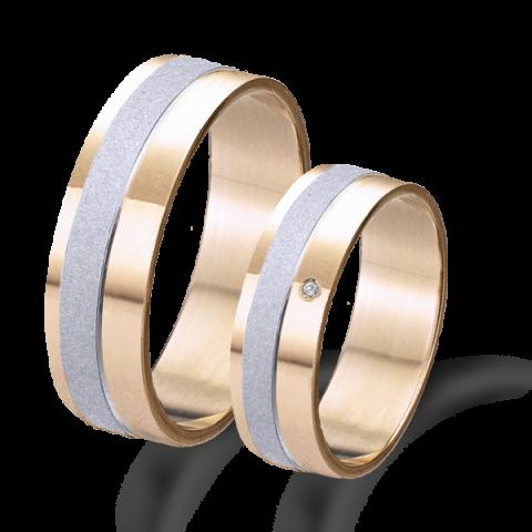 Alianza boda oro 18kts rosa y blanco 6625br