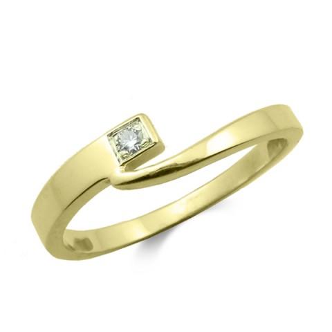 Anillo oro amarillo y diamante 0.02 cts 3023b